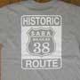 ルート66風の図案のTシャツ