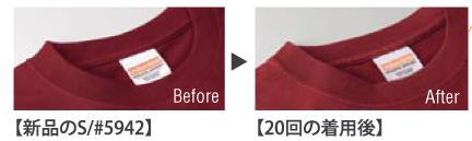 繰り返し洗濯の襟の写真