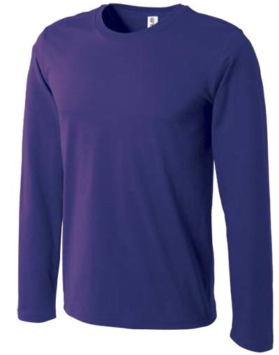 ディープパープルの長袖コーマTシャツ