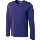 コーマ糸使用の薄手長袖Tシャツ