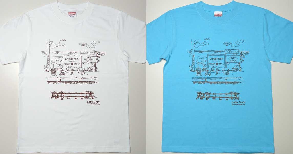 手描きデザインのプリントTシャツ