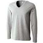 コーマ糸使用の薄手長袖TシャツVネック