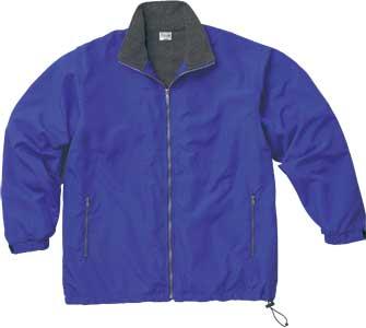 ブルーの透湿防水コート