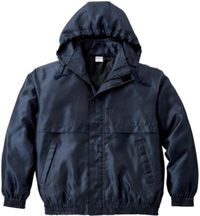 ネイビーのツイルジャケット