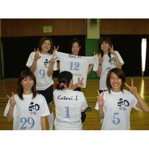 昇華プリントによるバレー部オリジナルTシャツ