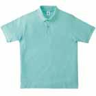 オープンエンド糸使用のポロシャツ