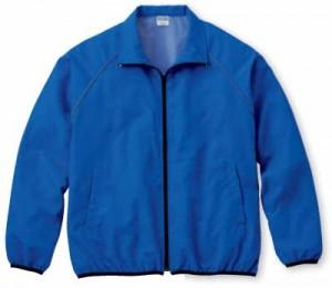 ブルーの再帰反射ジャケット