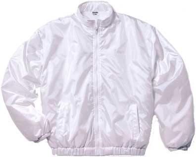 ホワイトの中綿イベントブルゾン