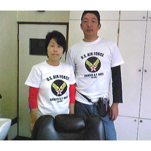 美容院のオリジナルTシャツ