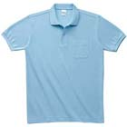 適度な厚みのT/Cポロシャツ(ポケット付き)