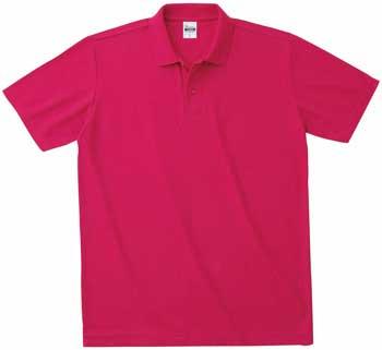 袖口ストレートポロシャツ ピンク