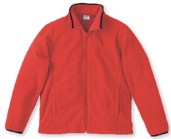 レッドの廉価フリースジャケット