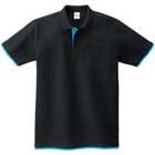 レイヤードポロシャツ(ポケット付き、袖口ストレート)