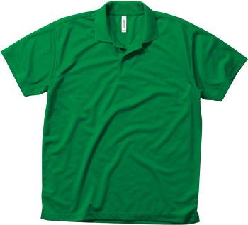 グリーンのドライポロ
