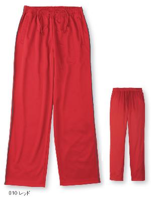 赤のジャージパンツ