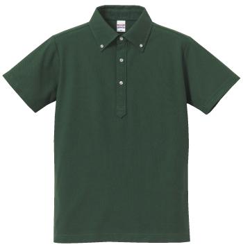 グリティッシュグリーンのポロシャツ