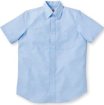 サックスの半袖OXシャツ