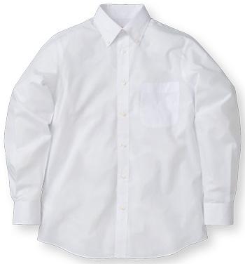 白の長袖ブロードシャツ
