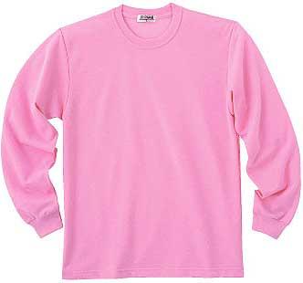 ピンクの長袖T