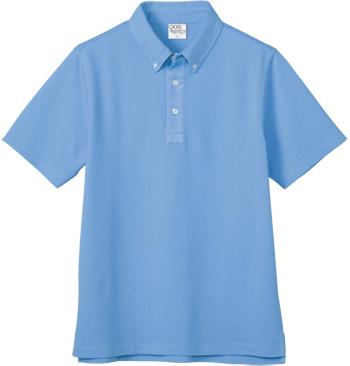 サックスのビズスタイル ボタンダウンポロシャツ