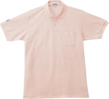 ピンクのエコポロシャツ