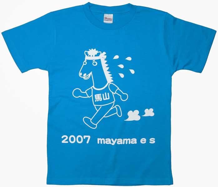 馬のイラストのオリジナルTシャツ