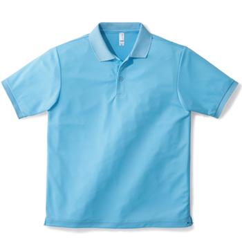 サックスのベーシックドライポロシャツ
