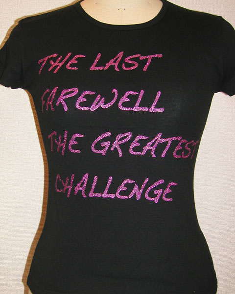 ピンクのグリッターTシャツ