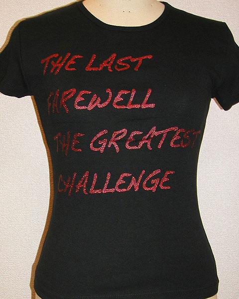 レッドのグリッタープリントTシャツ