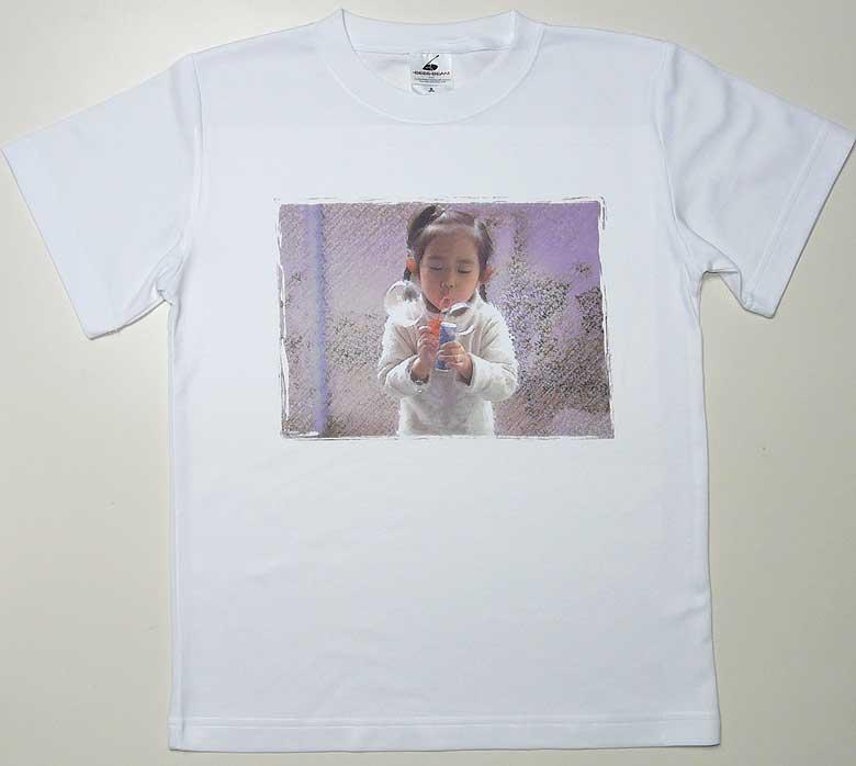 写真を昇華プリントしたTシャツ