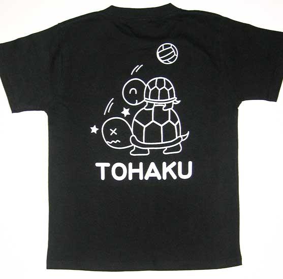 ジュニアバレーボールチームのオリジナルTシャツ