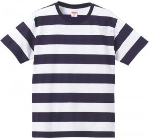 ネイビー-ホワイトのボーダーTシャツ