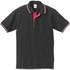二本線 襟裏切り替えドライポロシャツ